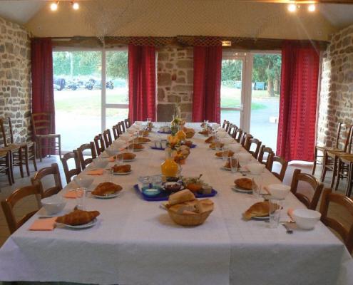 Location grand gîte de groupe en Bretagne en pension complète